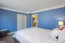Crown molding in bedroom - 3713 STONEWALL MANOR DR, TRIANGLE