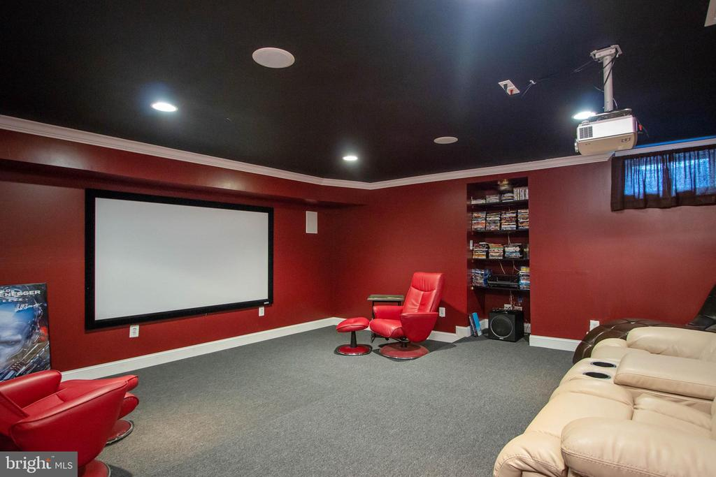 Huge theater room in basement - 3713 STONEWALL MANOR DR, TRIANGLE