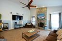 Wood burning fireplace with stone hearth - 3713 STONEWALL MANOR DR, TRIANGLE