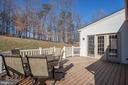 Trees in back provide privacy - 3713 STONEWALL MANOR DR, TRIANGLE