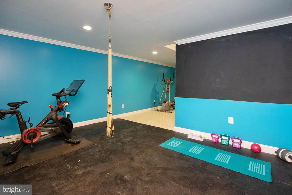 Great workout area of basement - 3713 STONEWALL MANOR DR, TRIANGLE