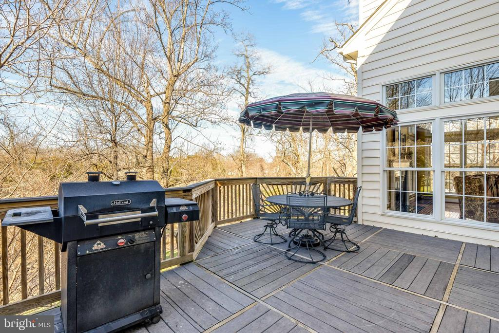 Enjoy your private, wooded backyard from the deck - 19030 COTON FARM CT, LEESBURG