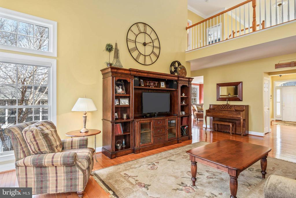 Open family room - 19030 COTON FARM CT, LEESBURG