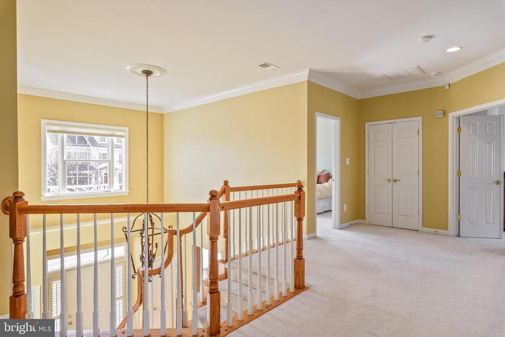 Bright, open foyer on the 2nd floor - 19030 COTON FARM CT, LEESBURG