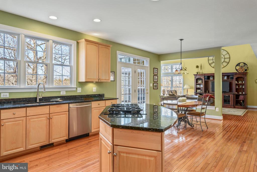 Open floor plan and eat-in kitchen - 19030 COTON FARM CT, LEESBURG