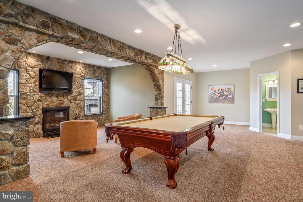Custom stone hearth with great natural light! - 19030 COTON FARM CT, LEESBURG