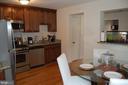 Dining area and kitchen - 4007 AMES ST NE, WASHINGTON