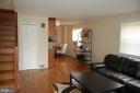 Open concept living room - 4007 AMES ST NE, WASHINGTON