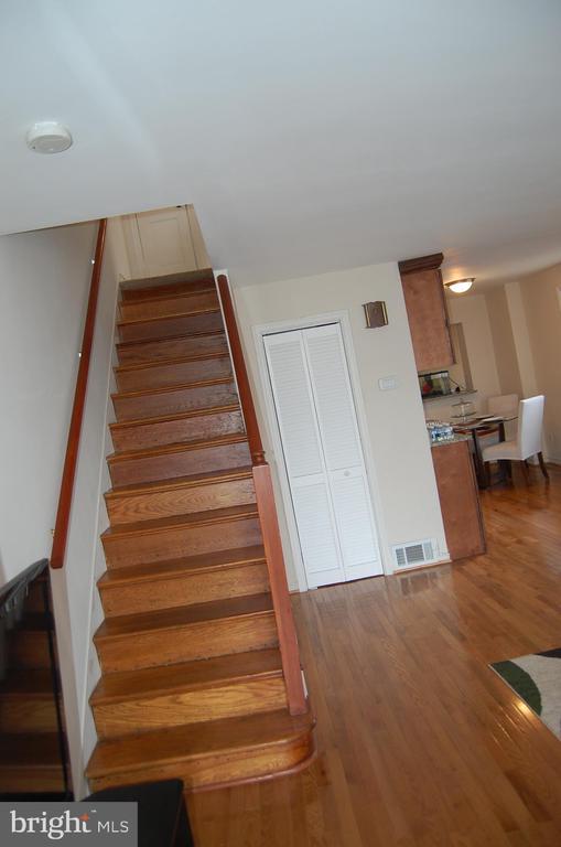 Hard wood stairs - 4007 AMES ST NE, WASHINGTON