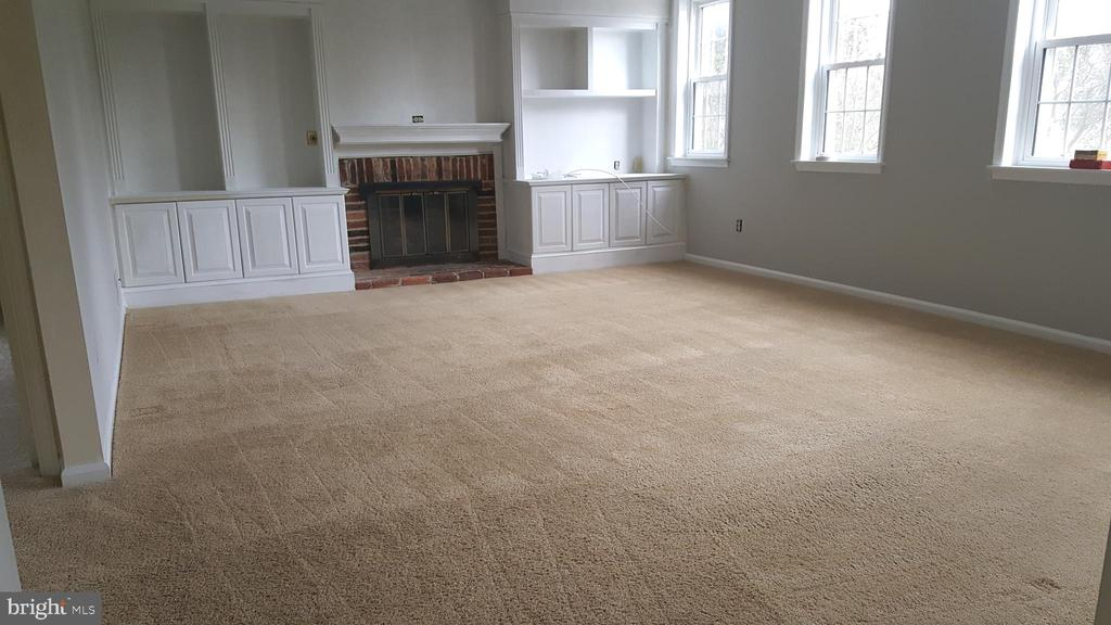 Rec Room with Gas Fireplace and Custom Built-ins - 7126 BRIDGEPORT CT, SPRINGFIELD