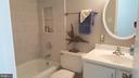Hall Bath - New tile tub surround - 7126 BRIDGEPORT CT, SPRINGFIELD