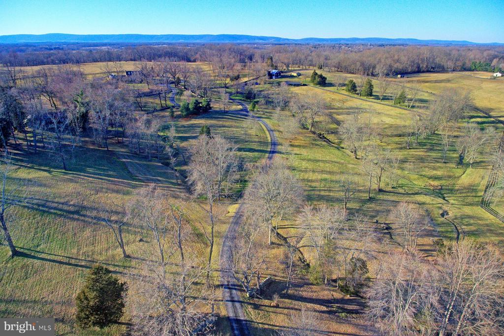 winding driveway ensures privacy - 22941 FOXCROFT RD, MIDDLEBURG