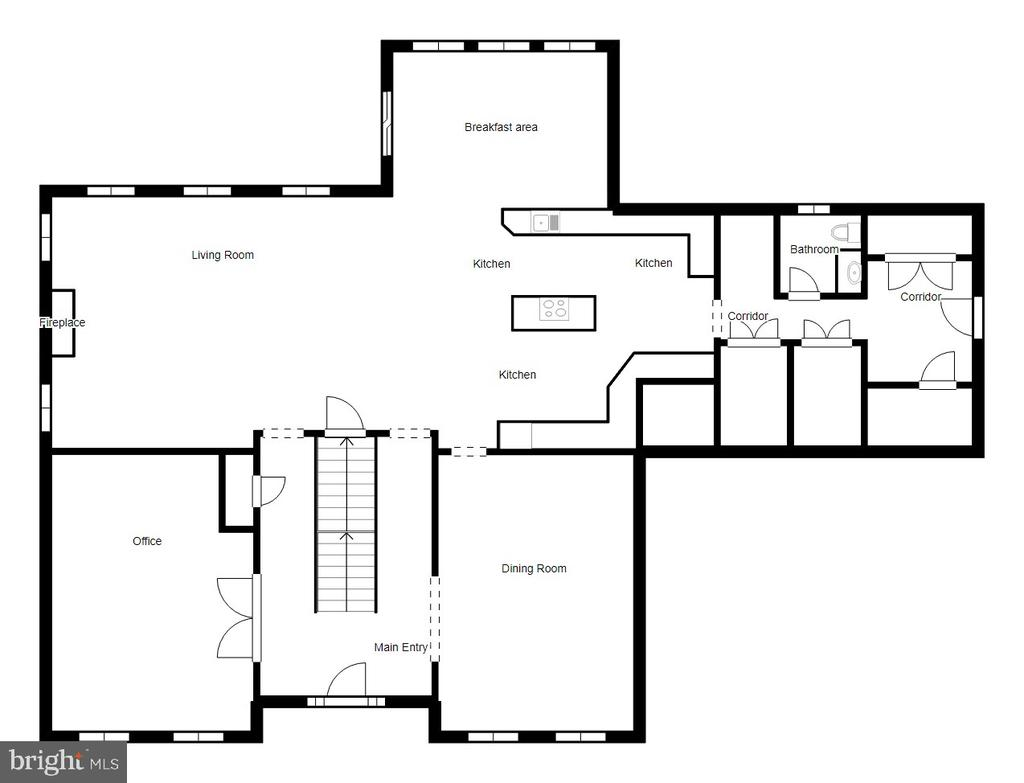 Main Level Floor Plan - 70 ALDERWOOD DR, STAFFORD