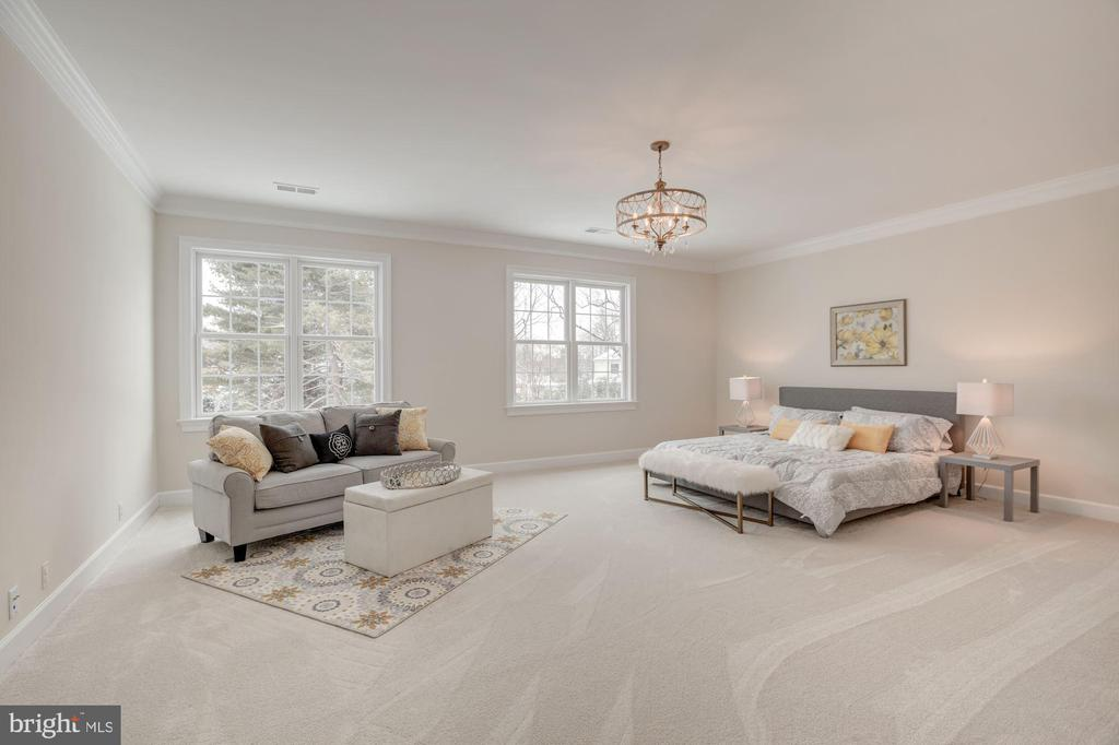 Spacious Master Bedroom with Lots of Light - 10510 COBBS GROVE LN, FAIRFAX