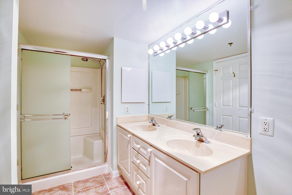 Master Bath with step in shower - 19385 CYPRESS RIDGE TER #915, LEESBURG