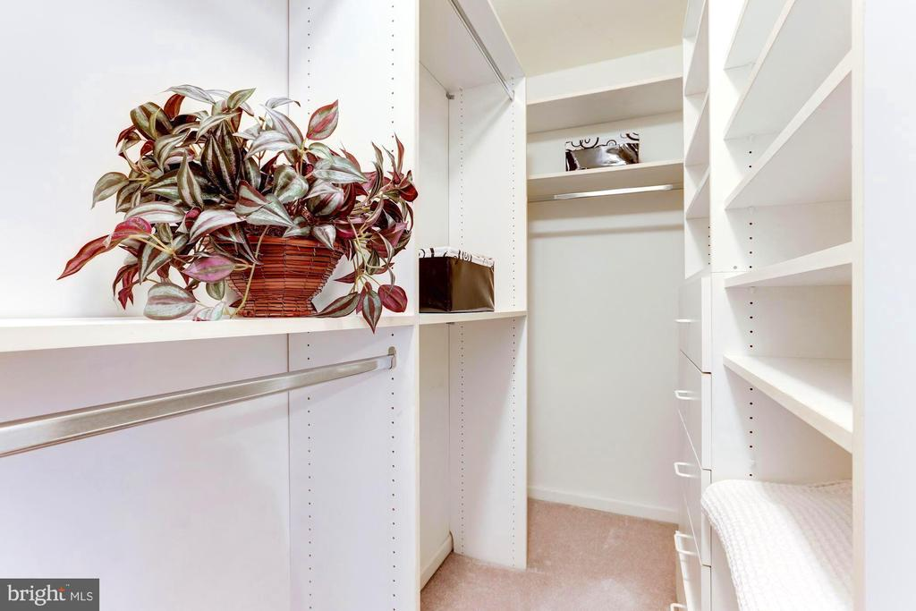 Walk-in closet features built ins and storage - 1460 PARK GARDEN LN, RESTON
