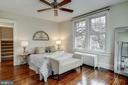 Master bedroom with views of Masonic  Temple - 300 N VIEW TER, ALEXANDRIA