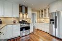 Kitchen with new stainless steel appliances - 300 N VIEW TER, ALEXANDRIA