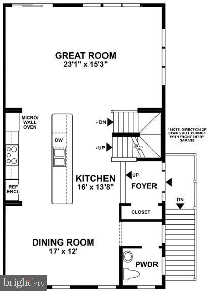 Main Level Floor Plan - 22517 WINDSOR LOCKS SQ, ASHBURN