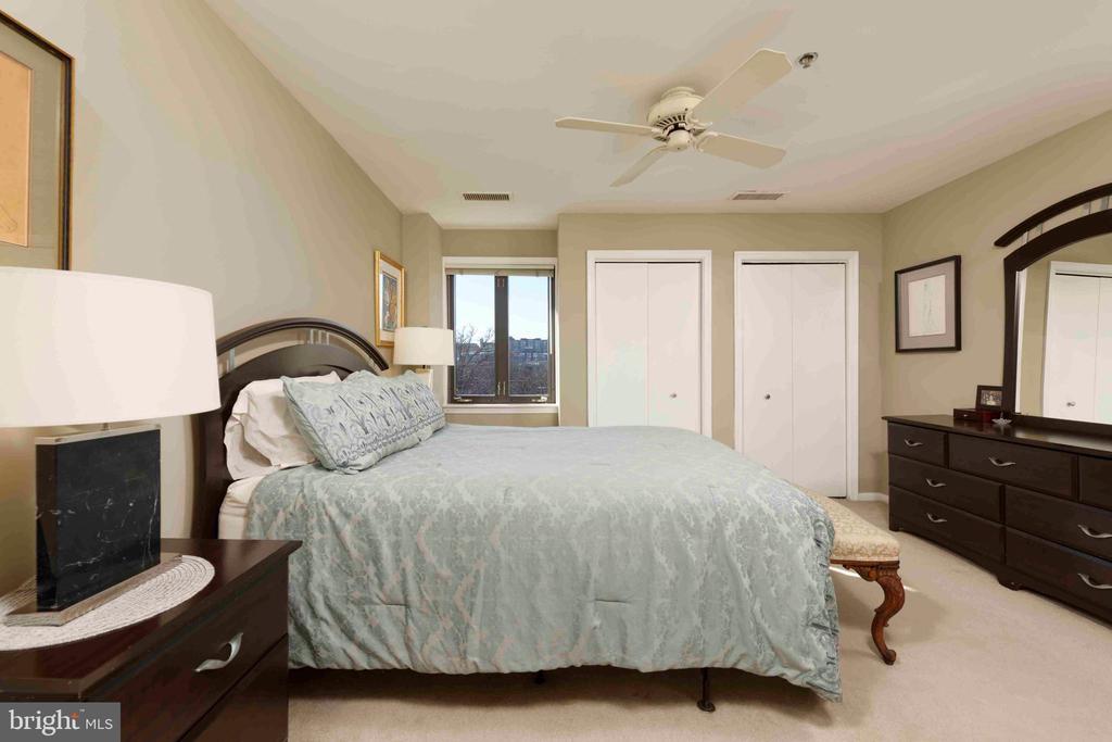 Master Bedroom -  Western (Virginia) View - 1401 N OAK ST N #305, ARLINGTON