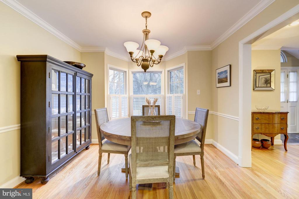 Light filled formal dining room - 5913 WELBORN DR, BETHESDA