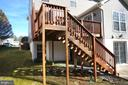 Deck with Stairs to Rear Patio & Yard - 22 LAKESIDE DR, STAFFORD