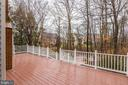 Expansive deck with low maintenance railings - 18403 KINGSMILL ST, LEESBURG