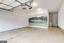 Finished two car garage with opener.  19 x 22 - 18403 KINGSMILL ST, LEESBURG