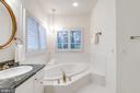 Master Bath with soaking tub - 18403 KINGSMILL ST, LEESBURG