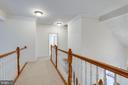 Carpeted upper level hallway - 18403 KINGSMILL ST, LEESBURG