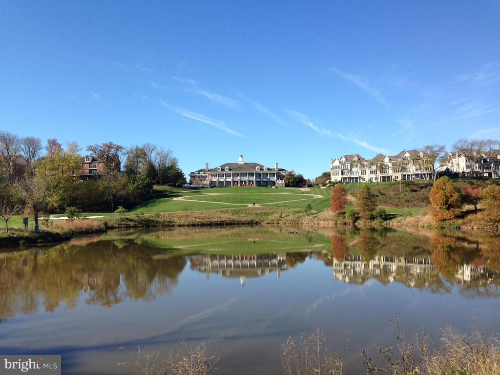 View of the rear of the main clubhouse at RCC - 18403 KINGSMILL ST, LEESBURG