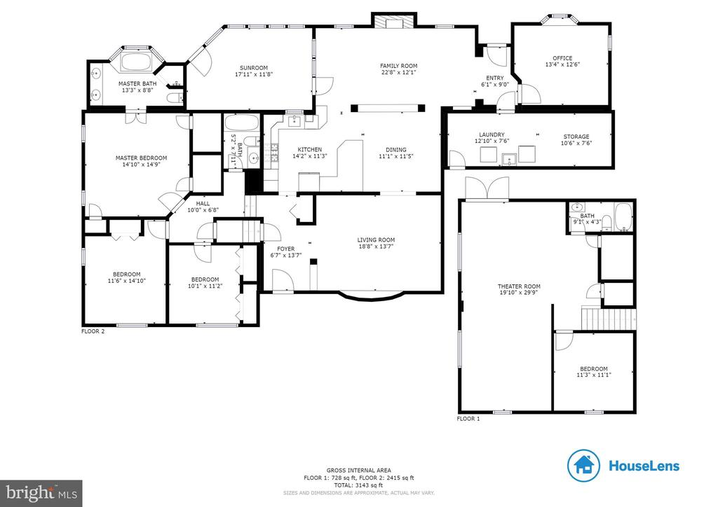 Three-level split floor plan - 7506 BOX ELDER CT, MCLEAN