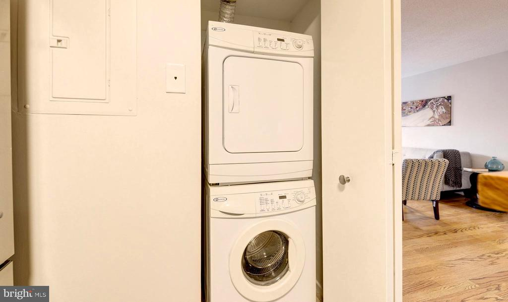 Washer and Dryer in the Unit. - 2111 WISCONSIN AVE NW #205, WASHINGTON