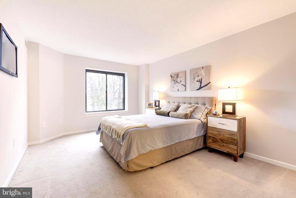 Large Master Bedroom with Walking Closet. - 2111 WISCONSIN AVE NW #205, WASHINGTON