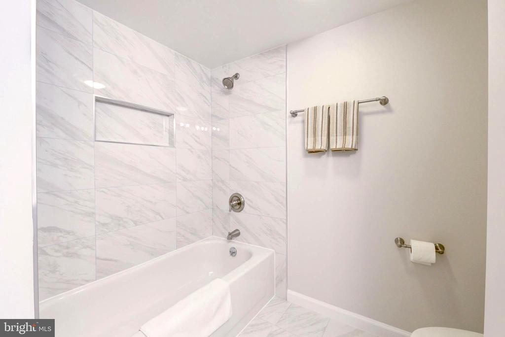 Master Bathroom renovated recently. - 2111 WISCONSIN AVE NW #205, WASHINGTON