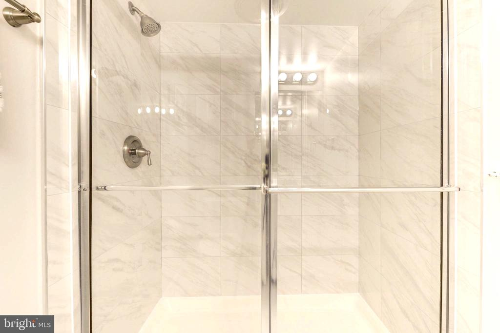 Bathroom 2 with Walking Shower. - 2111 WISCONSIN AVE NW #205, WASHINGTON