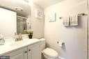 Bathroom 2 recently renovated. - 2111 WISCONSIN AVE NW #205, WASHINGTON