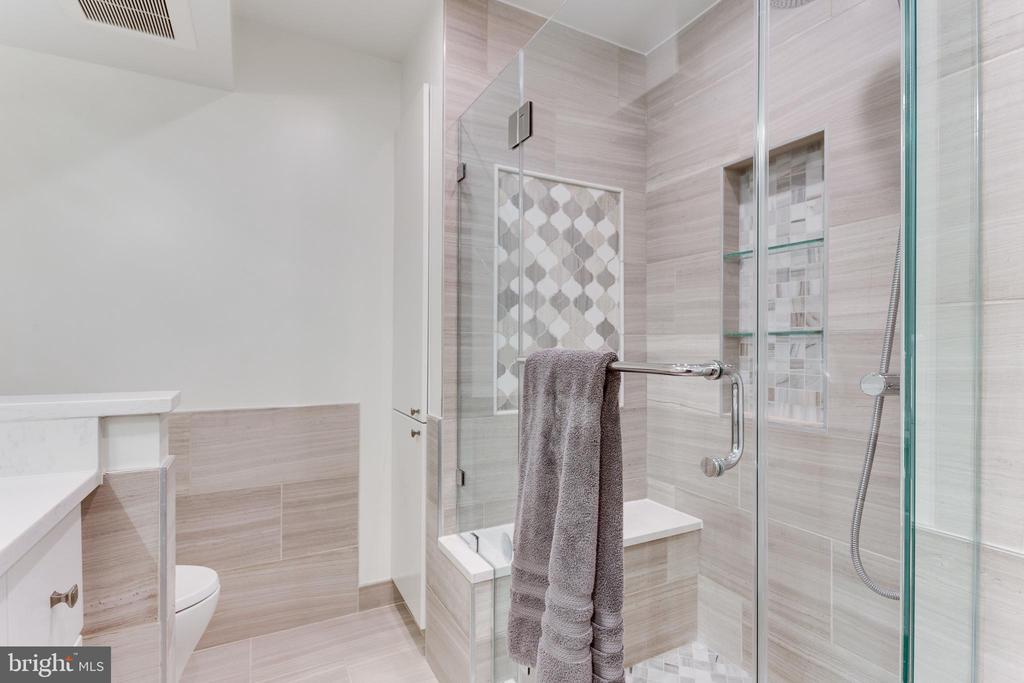 Master shower with beautiful tile details - 703 POTOMAC ST, ALEXANDRIA