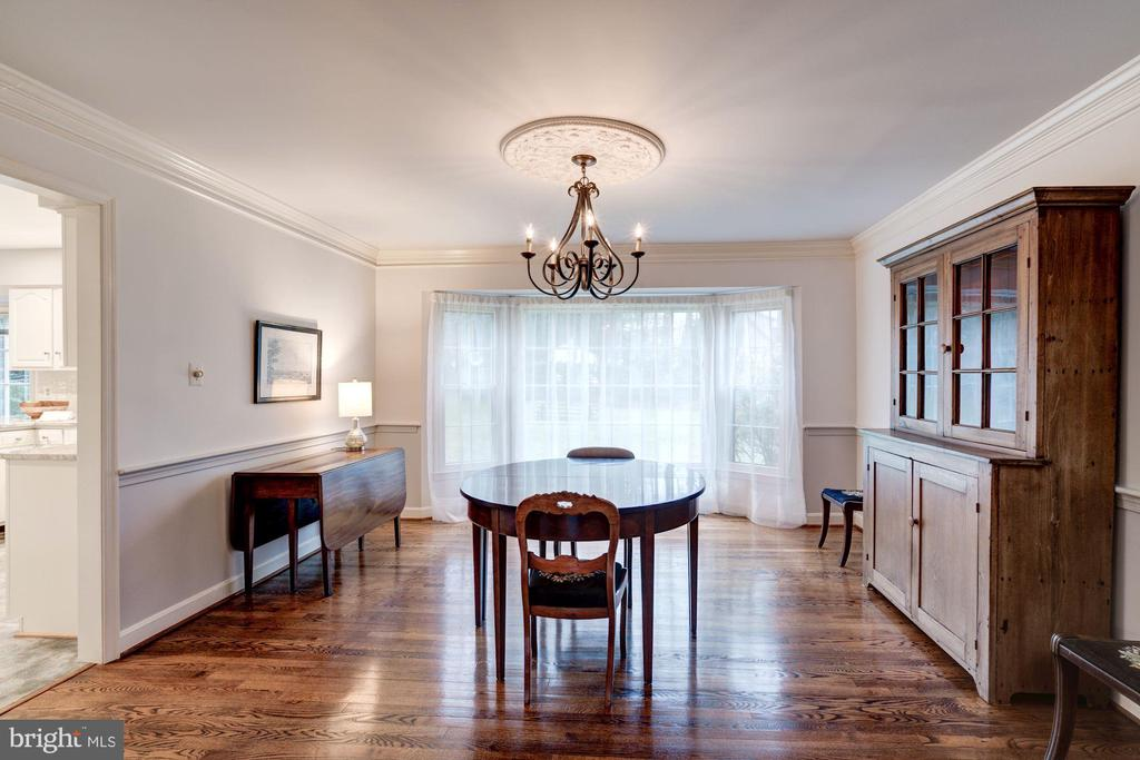 stunning dining room with a bay window view - 9097 WEXFORD DR, VIENNA