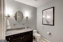 the half bath, big enough to be converted to full - 9097 WEXFORD DR, VIENNA
