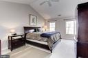Vaulted Ceiling in the Master Bedroom - 14104 ROCK CANYON DR, CENTREVILLE
