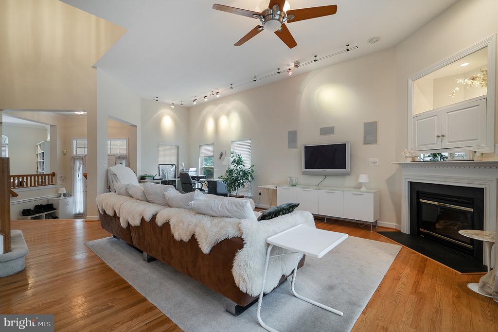 Cozy up to the gas fireplace - 9100 BRIARWOOD FARMS CT, FAIRFAX