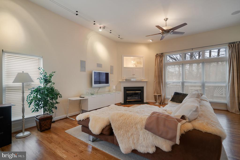 Spacious famly room with gas fireplace - 9100 BRIARWOOD FARMS CT, FAIRFAX