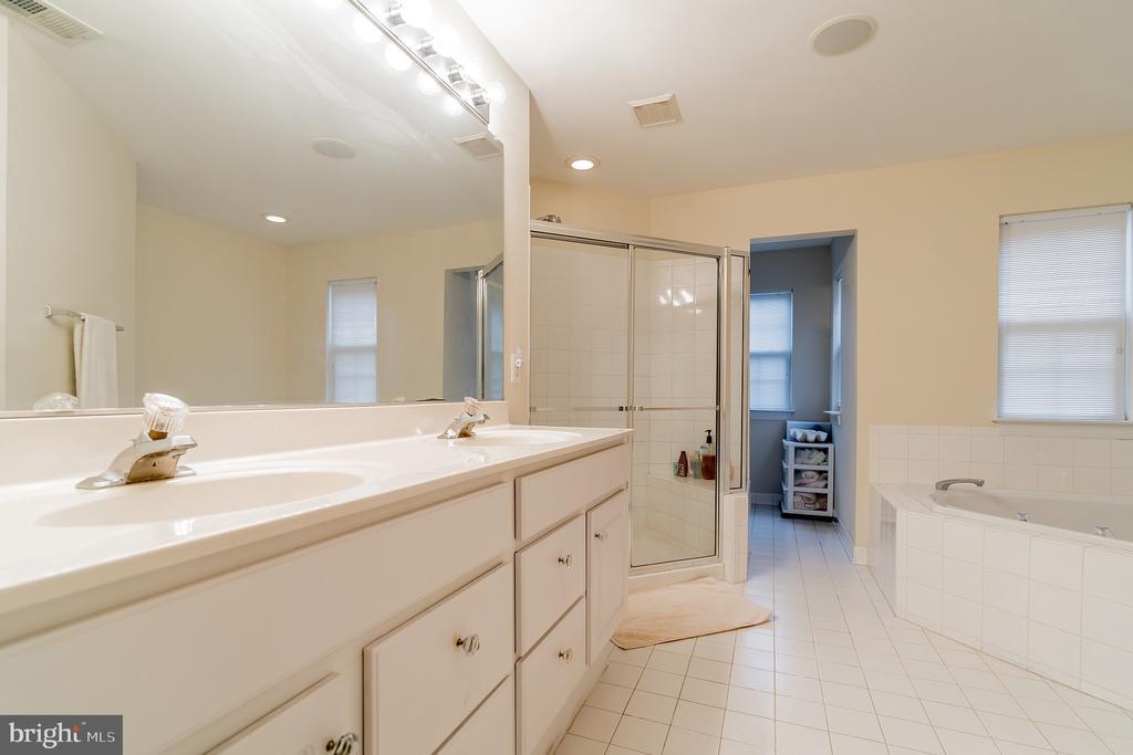Owner's bath has dual sinks, soaking tub & shower - 9100 BRIARWOOD FARMS CT, FAIRFAX