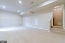 Rec room has new carpet & recessed lights - 9100 BRIARWOOD FARMS CT, FAIRFAX