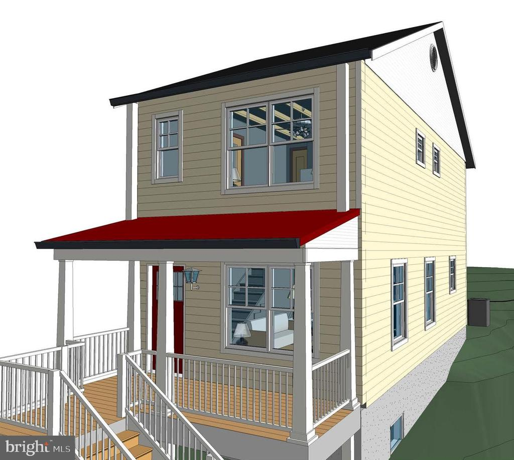 Elevation Rendering - 211 S JEFFERSON ST, MIDDLETOWN