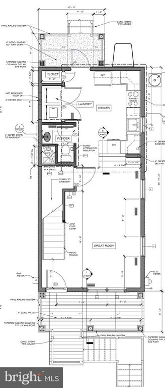 Main level floor plan - 211 S JEFFERSON ST, MIDDLETOWN