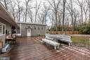 Large deck backing to trees - 501 BOWERS LN, HERNDON