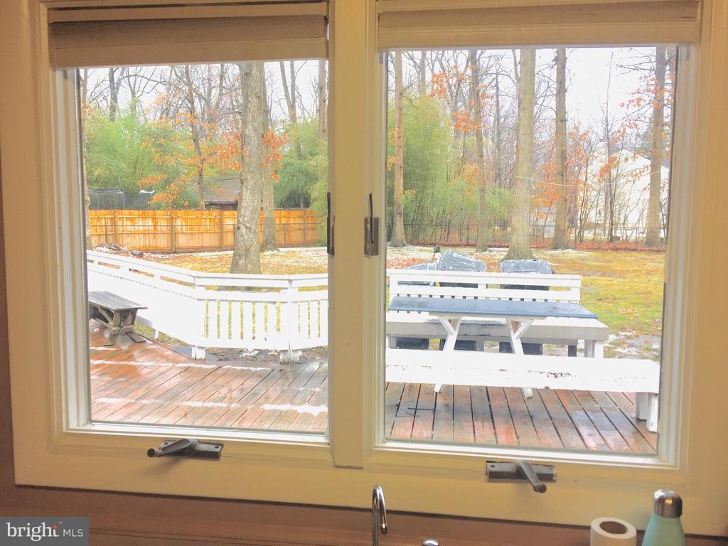 View from the kitchen - 501 BOWERS LN, HERNDON