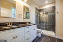 MASTER BATH OF PREVIOUSLY BUILT HOME - 105 EDGEMONT CIR, LOCUST GROVE